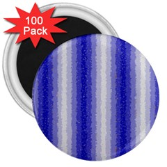 Dark Blue Curly Stripes 3  Button Magnet (100 Pack) by BestCustomGiftsForYou