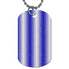 Dark Blue Curly Stripes Dog Tag (two Sided)  by BestCustomGiftsForYou