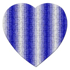 Dark Blue Curly Stripes Jigsaw Puzzle (heart) by BestCustomGiftsForYou