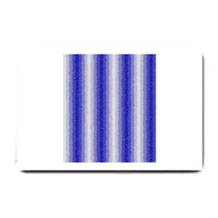 Dark Blue Curly Stripes Small Door Mat by BestCustomGiftsForYou