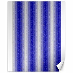 Dark Blue Curly Stripes Canvas 11  X 14  (unframed) by BestCustomGiftsForYou