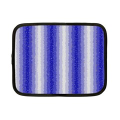 Dark Blue Curly Stripes Netbook Sleeve (small) by BestCustomGiftsForYou