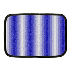 Dark Blue Curly Stripes Netbook Sleeve (medium) by BestCustomGiftsForYou