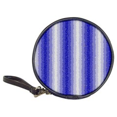 Dark Blue Curly Stripes Cd Wallet by BestCustomGiftsForYou