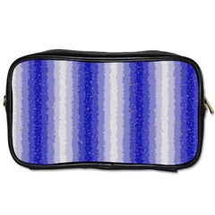 Dark Blue Curly Stripes Travel Toiletry Bag (one Side) by BestCustomGiftsForYou