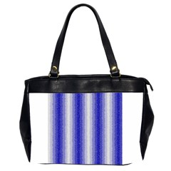 Dark Blue Curly Stripes Oversize Office Handbag (two Sides) by BestCustomGiftsForYou