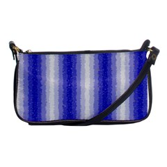 Dark Blue Curly Stripes Evening Bag by BestCustomGiftsForYou