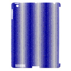 Dark Blue Curly Stripes Apple Ipad 3/4 Hardshell Case (compatible With Smart Cover) by BestCustomGiftsForYou