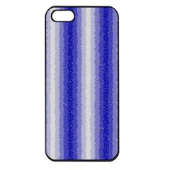 Dark Blue Curly Stripes Apple Iphone 5 Seamless Case (black) by BestCustomGiftsForYou