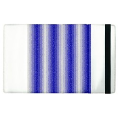 Dark Blue Curly Stripes Apple Ipad 2 Flip Case by BestCustomGiftsForYou