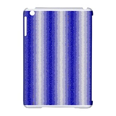Dark Blue Curly Stripes Apple Ipad Mini Hardshell Case (compatible With Smart Cover) by BestCustomGiftsForYou