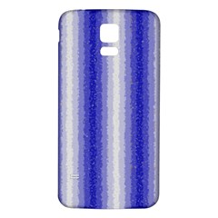 Dark Blue Curly Stripes Samsung Galaxy S5 Back Case (white)