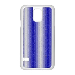 Dark Blue Curly Stripes Samsung Galaxy S5 Case (white) by BestCustomGiftsForYou