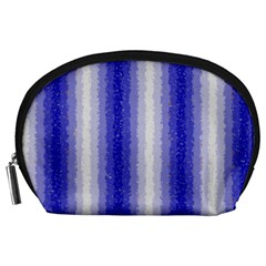 Dark Blue Curly Stripes Accessory Pouch (large) by BestCustomGiftsForYou