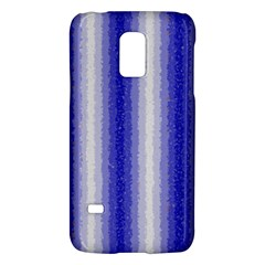 Dark Blue Curly Stripes Samsung Galaxy S5 Mini Hardshell Case  by BestCustomGiftsForYou