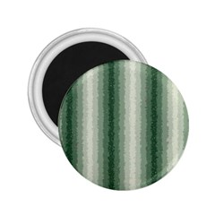 Dark Green Curly Stripes 2 25  Button Magnet by BestCustomGiftsForYou