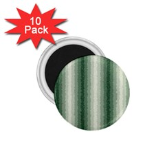 Dark Green Curly Stripes 1 75  Button Magnet (10 Pack) by BestCustomGiftsForYou
