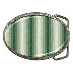 Dark Green Curly Stripes Belt Buckle (oval) by BestCustomGiftsForYou