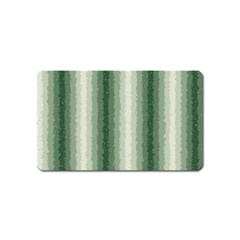 Dark Green Curly Stripes Magnet (name Card) by BestCustomGiftsForYou