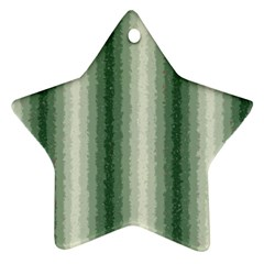 Dark Green Curly Stripes Star Ornament (two Sides) by BestCustomGiftsForYou