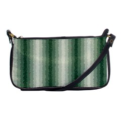 Dark Green Curly Stripes Evening Bag by BestCustomGiftsForYou