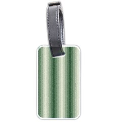 Dark Green Curly Stripes Luggage Tag (two Sides) by BestCustomGiftsForYou