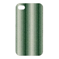 Dark Green Curly Stripes Apple Iphone 4/4s Hardshell Case by BestCustomGiftsForYou