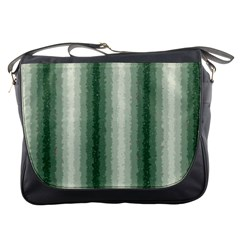 Dark Green Curly Stripes Messenger Bag by BestCustomGiftsForYou