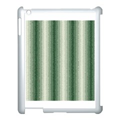 Dark Green Curly Stripes Apple Ipad 3/4 Case (white) by BestCustomGiftsForYou