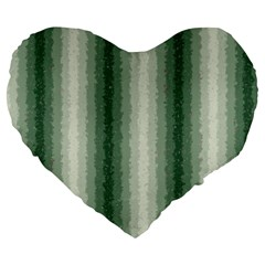 Dark Green Curly Stripes 19  Premium Heart Shape Cushion by BestCustomGiftsForYou