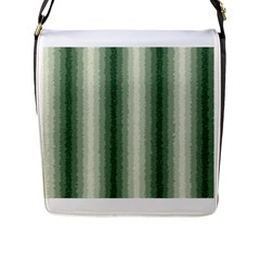 Dark Green Curly Stripes Flap Closure Messenger Bag (large) by BestCustomGiftsForYou