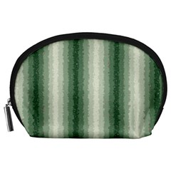 Dark Green Curly Stripes Accessory Pouch (large) by BestCustomGiftsForYou
