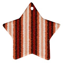 Native American Curly Stripes   1 Star Ornament by BestCustomGiftsForYou