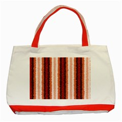 Native American Curly Stripes   1 Classic Tote Bag (red) by BestCustomGiftsForYou