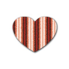 Native American Curly Stripes   1 Drink Coasters (heart) by BestCustomGiftsForYou