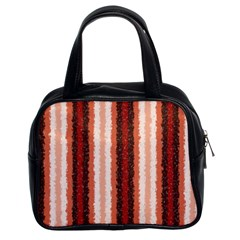 Native American Curly Stripes   1 Classic Handbag (two Sides) by BestCustomGiftsForYou