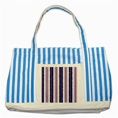 Native American Curly Stripes   2 Blue Striped Tote Bag by BestCustomGiftsForYou