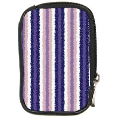 Native American Curly Stripes   2 Compact Camera Leather Case by BestCustomGiftsForYou