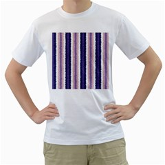 Native American Curly Stripes   2 Men s T Shirt (white)  by BestCustomGiftsForYou