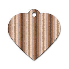 Native American Curly Stripes   3 Dog Tag Heart (two Sided) by BestCustomGiftsForYou