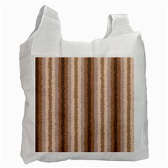 Native American Curly Stripes   3 White Reusable Bag (one Side) by BestCustomGiftsForYou