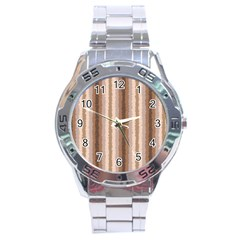 Native American Curly Stripes   3 Stainless Steel Watch by BestCustomGiftsForYou