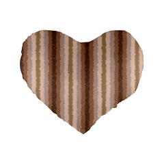 Native American Curly Stripes   3 16  Premium Heart Shape Cushion  by BestCustomGiftsForYou
