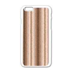 Native American Curly Stripes   3 Apple Iphone 6 White Enamel Case by BestCustomGiftsForYou