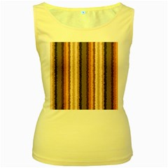 Native American Curly Stripes   4 Women s Tank Top (yellow)