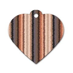 Native American Curly Stripes   4 Dog Tag Heart (two Sided) by BestCustomGiftsForYou