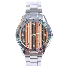 Native American Curly Stripes   4 Stainless Steel Watch by BestCustomGiftsForYou