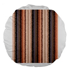 Native American Curly Stripes   4 18  Premium Round Cushion  by BestCustomGiftsForYou