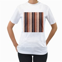 Native American Curly Stripes   4 Women s T Shirt (white)  by BestCustomGiftsForYou