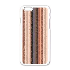 Native American Curly Stripes   4 Apple Iphone 6 White Enamel Case by BestCustomGiftsForYou